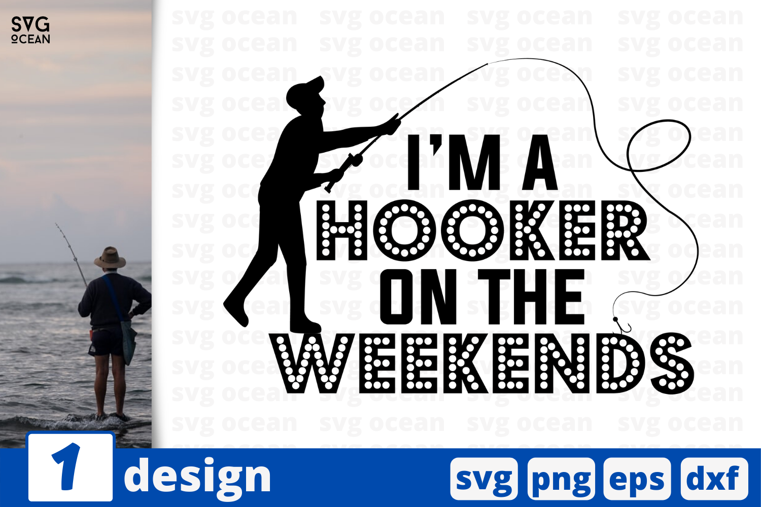 Download Free I M A Hooker On The Weekends Graphic By Svgocean Creative Fabrica for Cricut Explore, Silhouette and other cutting machines.