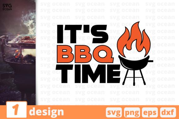Download Free It S Bbq Time Graphic By Svgocean Creative Fabrica for Cricut Explore, Silhouette and other cutting machines.