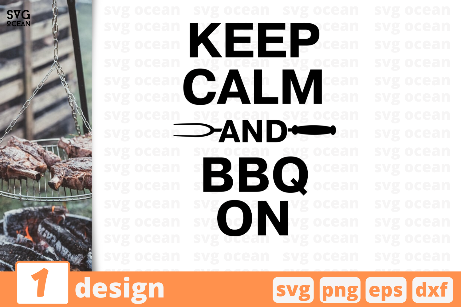 Download Free Keep Calm And Bbq Graphic By Svgocean Creative Fabrica for Cricut Explore, Silhouette and other cutting machines.