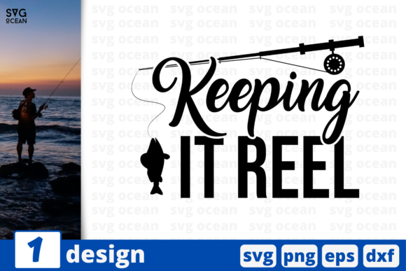 Download Free Keeping It Reel Graphic By Svgocean Creative Fabrica for Cricut Explore, Silhouette and other cutting machines.