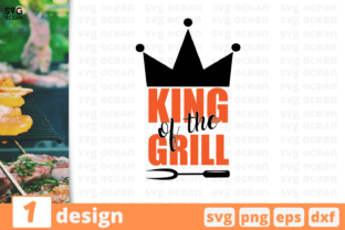 Download Free Kind Of The Grill Graphic By Svgocean Creative Fabrica for Cricut Explore, Silhouette and other cutting machines.