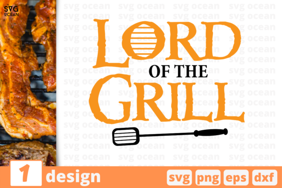 Download Free Lord Of The Grill Graphic By Svgocean Creative Fabrica for Cricut Explore, Silhouette and other cutting machines.