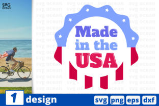 Download Free Made In The Usa Graphic By Svgocean Creative Fabrica for Cricut Explore, Silhouette and other cutting machines.