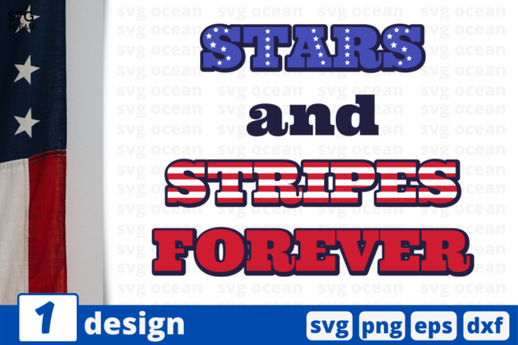 Download Free Start And Stripes Forever Graphic By Svgocean Creative Fabrica for Cricut Explore, Silhouette and other cutting machines.