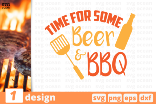 Download Free Time For Some Beer And Bbq Graphic By Svgocean Creative Fabrica for Cricut Explore, Silhouette and other cutting machines.