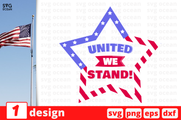 Download Free United We Stand Graphic By Svgocean Creative Fabrica for Cricut Explore, Silhouette and other cutting machines.
