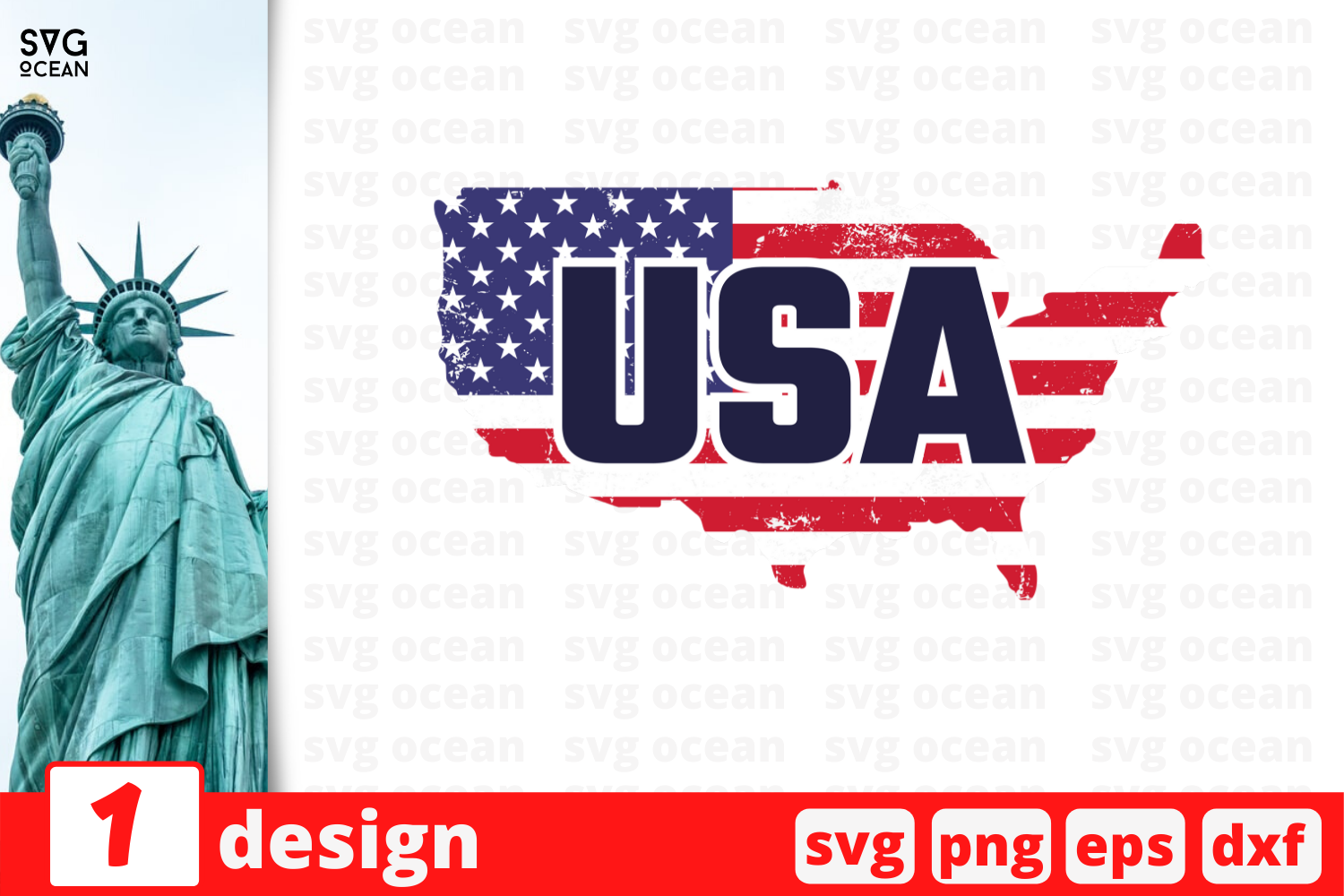 Download Free Usa Graphic By Svgocean Creative Fabrica for Cricut Explore, Silhouette and other cutting machines.