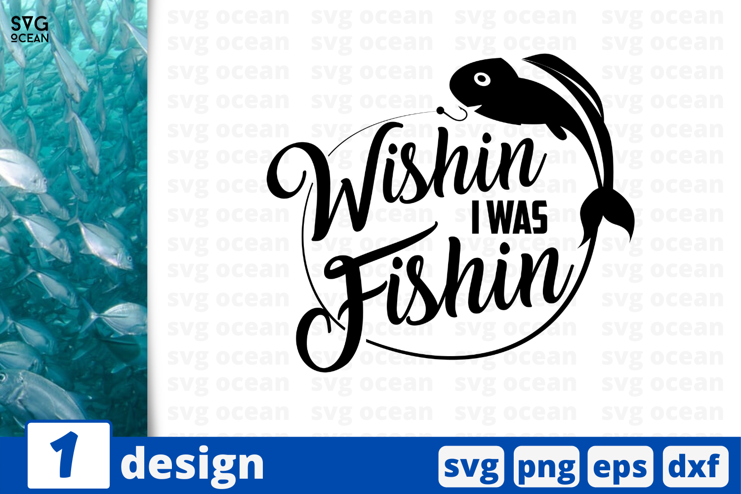 Download Free Wishin I Was Fishin Graphic By Svgocean Creative Fabrica for Cricut Explore, Silhouette and other cutting machines.