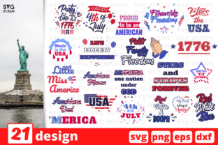 Download Free 21 4th Of July Quotes Bundle Graphic By Svgocean Creative Fabrica for Cricut Explore, Silhouette and other cutting machines.