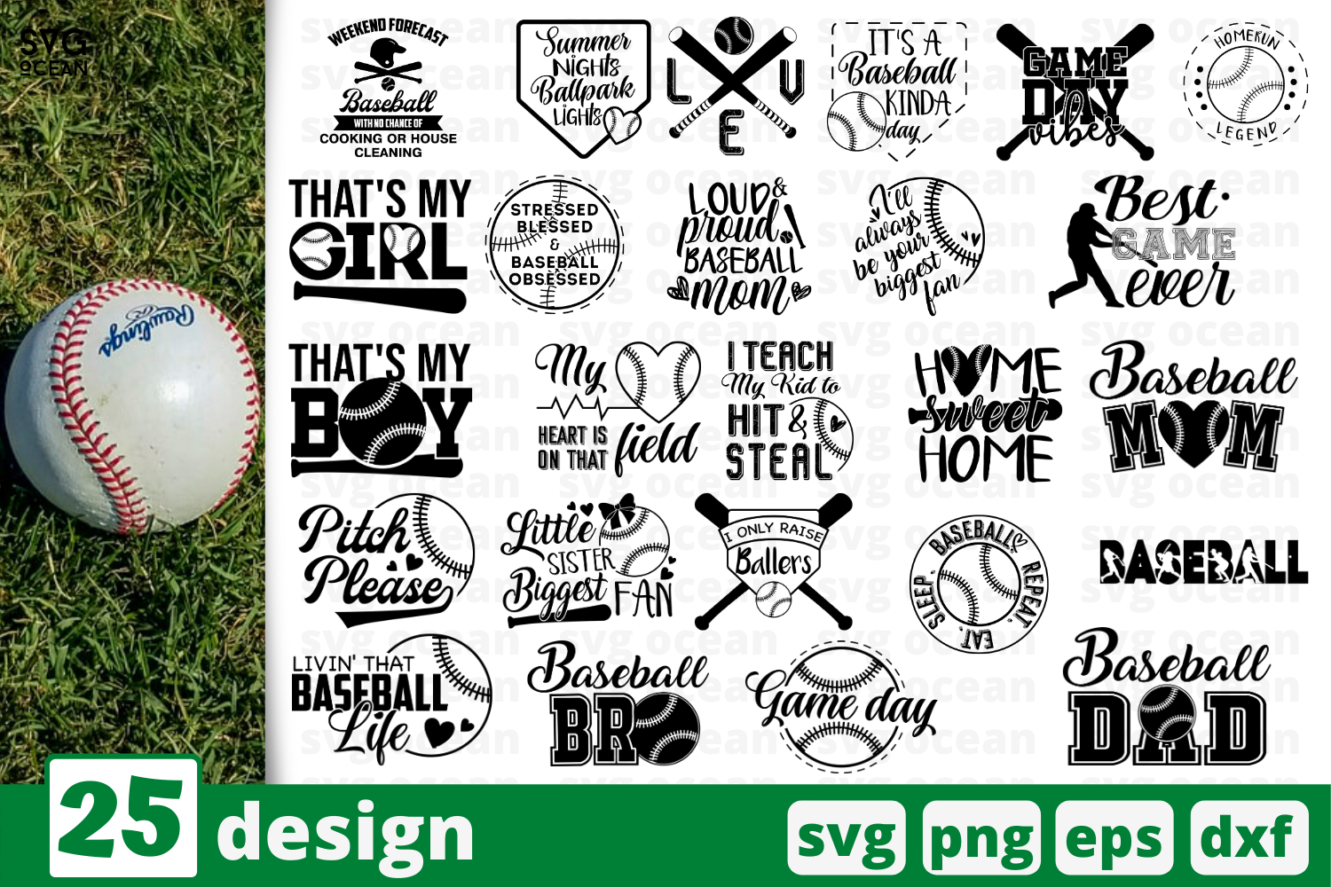 Download Free 24 Baseball Quotes Bundle Graphic By Svgocean Creative Fabrica for Cricut Explore, Silhouette and other cutting machines.