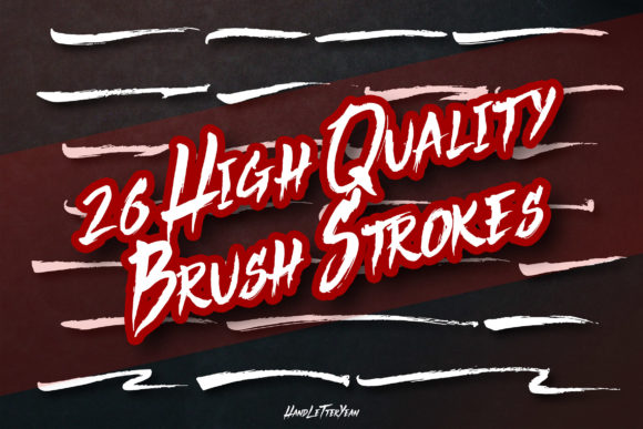 Print on Demand: 26 Brush Strokes Graphic Textures By yean.aguste - Image 1