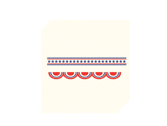 Download Free 4th Of July Borders Graphic Graphic By Svgplacedesign Creative for Cricut Explore, Silhouette and other cutting machines.