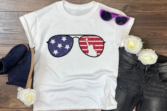 Download Free 4th Of July American Sunglass Graphic By Craftlabsvg Creative for Cricut Explore, Silhouette and other cutting machines.