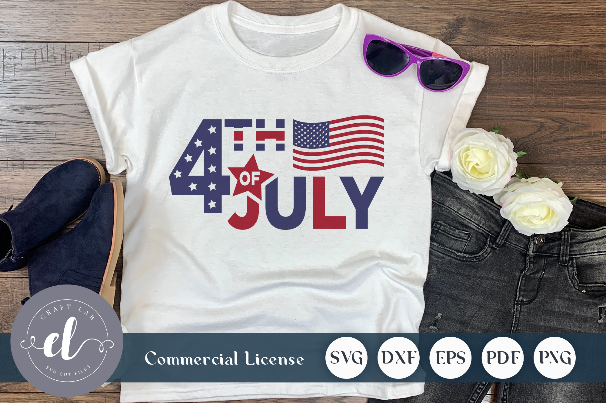 Download Free 4th Of July Graphic By Craftlabsvg Creative Fabrica for Cricut Explore, Silhouette and other cutting machines.