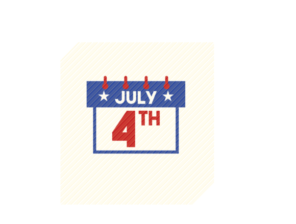 Download Free 4th Of July Date Graphic Graphic By Svgplacedesign Creative for Cricut Explore, Silhouette and other cutting machines.