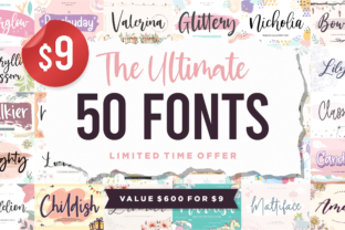 Print on Demand: The Ultimate 50 Fonts Bundle  By Balpirick