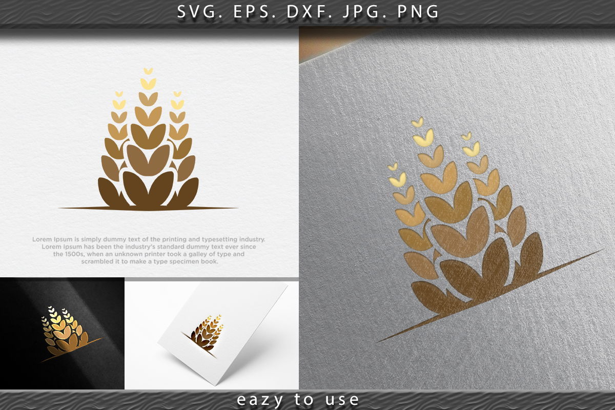 Download Free Agriculture Wheat Icon Logo Ideas Graphic By Ojosujono96 for Cricut Explore, Silhouette and other cutting machines.