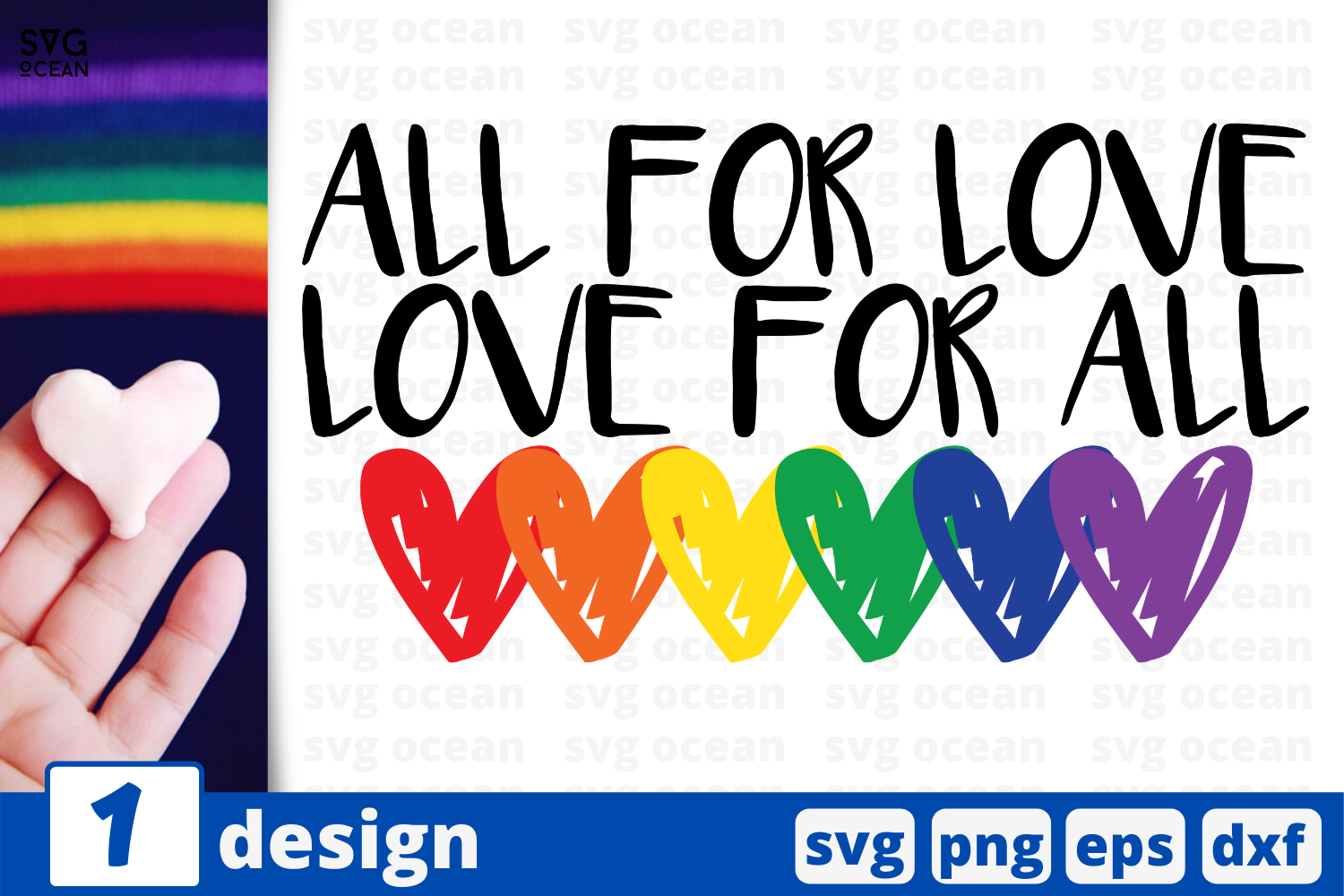 Download Free All For Love Graphic By Svgocean Creative Fabrica for Cricut Explore, Silhouette and other cutting machines.
