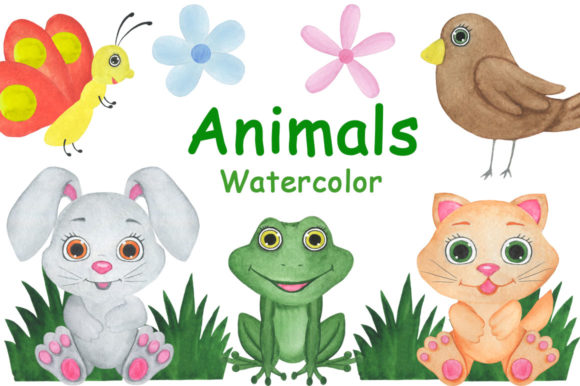 Animals Watercolor Childish Illustration Graphic Illustrations By shishkovaiv