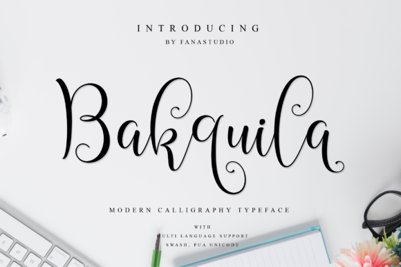 Print on Demand: Bakquila Script & Handwritten Font By fanastudio