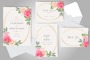 Download Free Beautiful Floral Wedding Invitation Card Graphic By Federiqoend for Cricut Explore, Silhouette and other cutting machines.