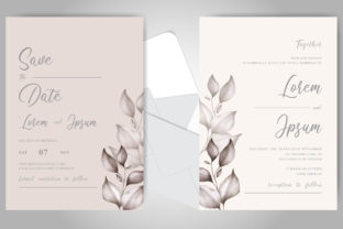 Download Free Beautiful Watercolor Floral Wedding Card Graphic By Federiqoend for Cricut Explore, Silhouette and other cutting machines.