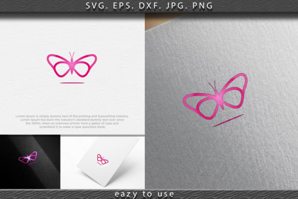 Download Free Beauty Butterfly Logo Ideas Inspiration Graphic By Ojosujono96 for Cricut Explore, Silhouette and other cutting machines.