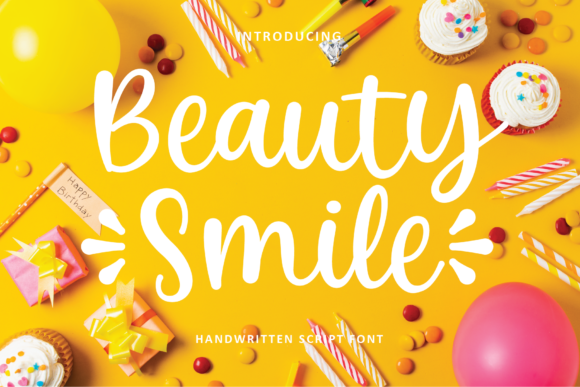 Print on Demand: Beauty Smile Script & Handwritten Font By alphArt