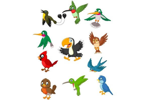 Download Free Birds Clipart Set Graphic Graphic By Tigatelusiji Creative Fabrica for Cricut Explore, Silhouette and other cutting machines.