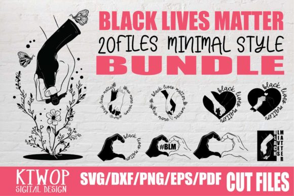 Download Free Black Lives Matter Minimal Bundle Graphic By Ktwop Creative for Cricut Explore, Silhouette and other cutting machines.