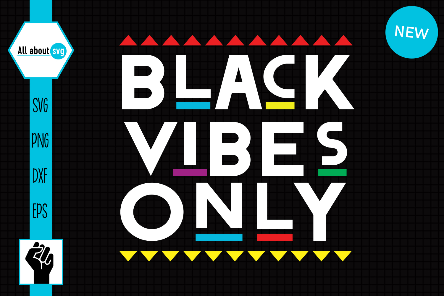 Download Free Black Vibes Only Svg Graphic By All About Svg Creative Fabrica for Cricut Explore, Silhouette and other cutting machines.