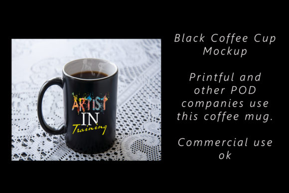 Download Free Black Coffee Cup Mockup Graphic By A Design In Time Creative for Cricut Explore, Silhouette and other cutting machines.