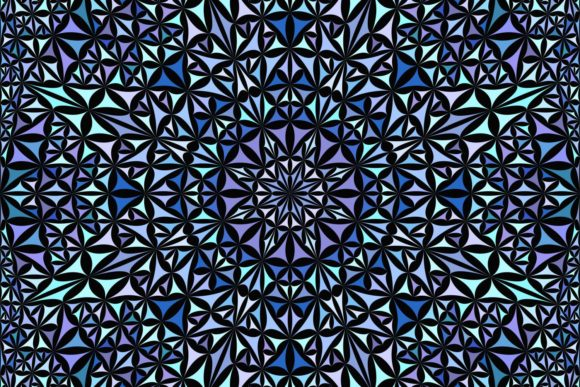 Download Free Blue Seamless Mandala Pattern Graphic By Davidzydd Creative for Cricut Explore, Silhouette and other cutting machines.
