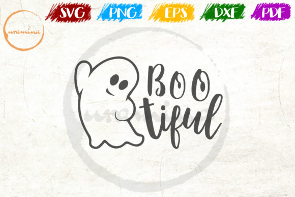 Download Free Boo Tiful Graphic By Uramina Creative Fabrica for Cricut Explore, Silhouette and other cutting machines.