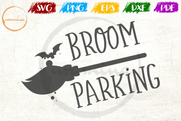 Download Free Broom Parking Graphic By Uramina Creative Fabrica for Cricut Explore, Silhouette and other cutting machines.