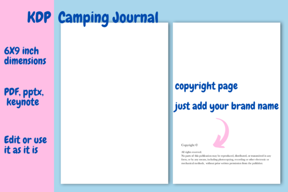 Print on Demand: Camping  Journal for KDP Graphic KDP Interiors By Income Plum - Image 2