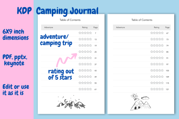 Print on Demand: Camping  Journal for KDP Graphic KDP Interiors By Income Plum - Image 3