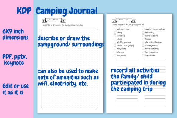 Print on Demand: Camping  Journal for KDP Graphic KDP Interiors By Income Plum - Image 5
