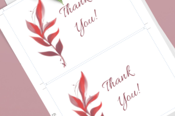 Download Free Cards With Red Fall Foliage Editable Pdf Graphic By Print Cut for Cricut Explore, Silhouette and other cutting machines.
