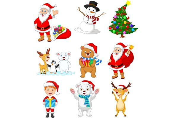 Cartoon Christmas Clipart Set Graphic Graphic Illustrations By tigatelusiji