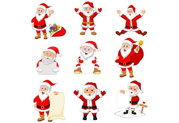 Cartoon Santa Claus Clipart Set Graphic Graphic Illustrations By tigatelusiji