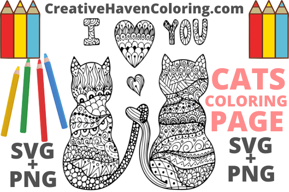 Download Free Cat Coloring Page 1 Graphic By Creativehavencoloring Creative for Cricut Explore, Silhouette and other cutting machines.