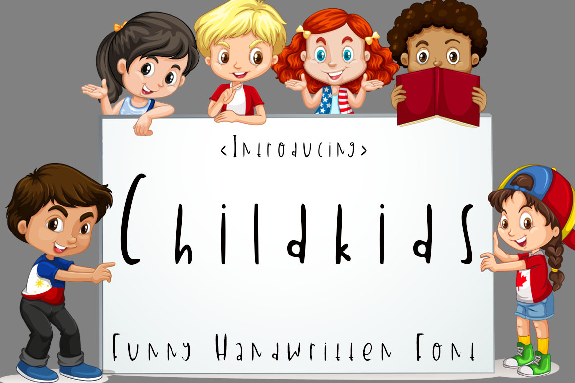 Download Free Childkids Font By Supersemar Letter Creative Fabrica for Cricut Explore, Silhouette and other cutting machines.