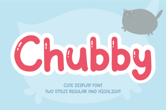 Print on Demand: Chubby Display Font By AquariiD