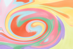 Print on Demand: Colorful Metallic Marble Swirl Graphic Graphic Backgrounds By AM Digital Designs