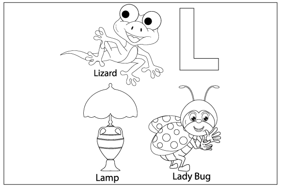 Download Free Coloring The Letter L For Children Graphic By Curutdesign for Cricut Explore, Silhouette and other cutting machines.