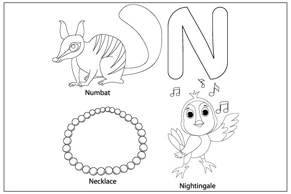 Download Free Coloring The Letter N For Children Graphic By Curutdesign for Cricut Explore, Silhouette and other cutting machines.