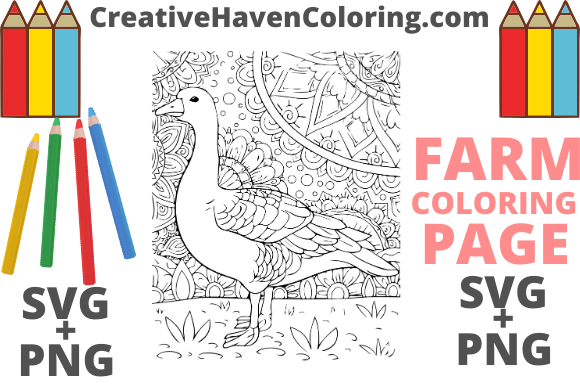 Print on Demand: Country Farm Coloring Page #11  Graphic Coloring Pages & Books Adults By creativehavencoloring