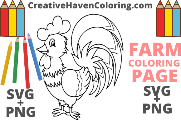 Print on Demand: Country Farm Coloring Page #16 Graphic Coloring Pages & Books Adults By creativehavencoloring