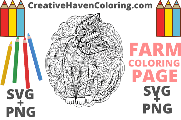 Print on Demand: Country Farm Coloring Page #17 Graphic Coloring Pages & Books Adults By creativehavencoloring